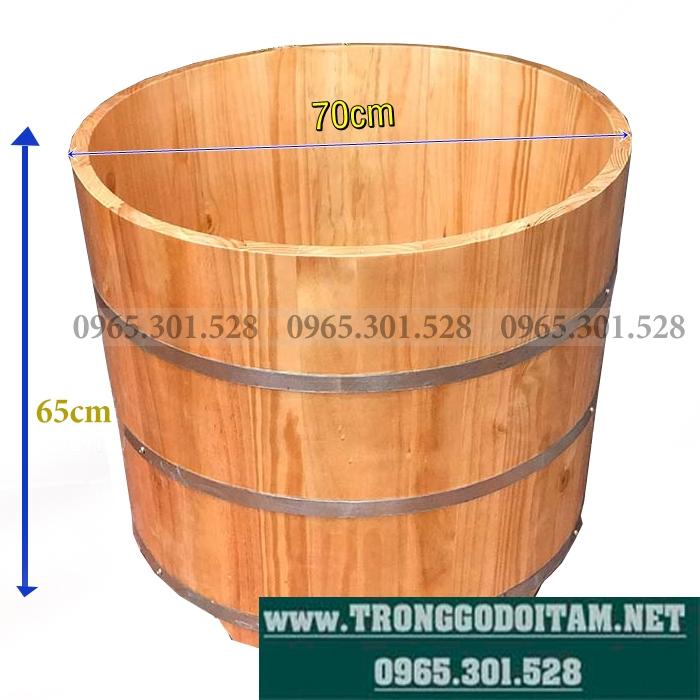 bồn tắm gỗ thuốc thông nhật