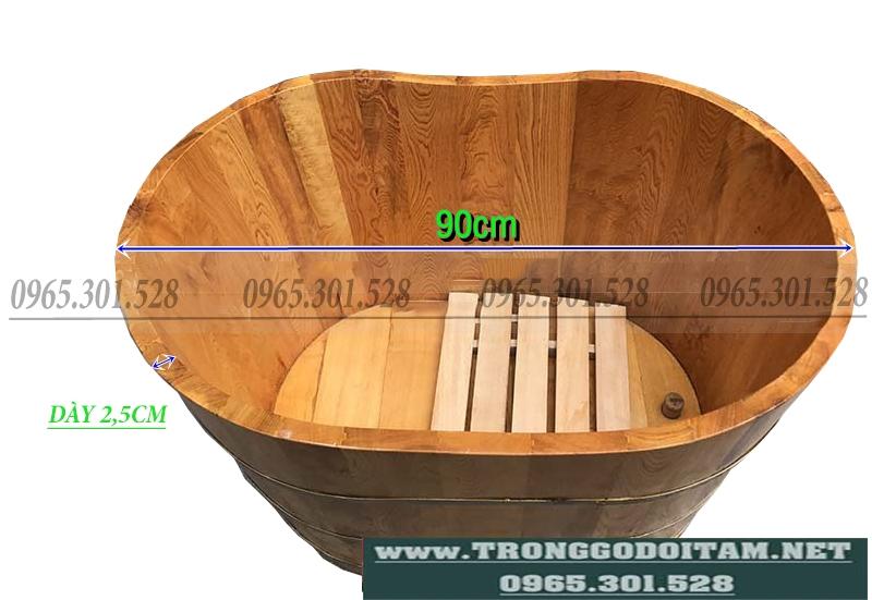 bán bồn tắm gỗ 90 100cm tại hà nội