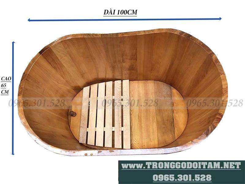 kích thước bồn tắm gỗ pơmu