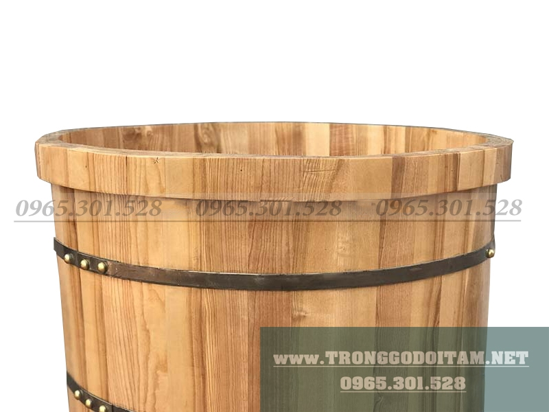 bán bồn tắm gỗ tròn ngâm thuốc