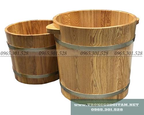 chậu gỗ ngâm chân cỡ lớn và cỡ thường