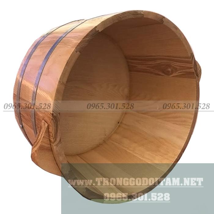 bồn gỗ ngâm chân bằng gỗ sồi