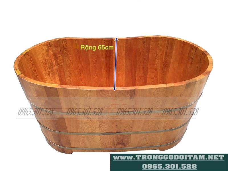 bồn tắm gỗ dáng oval, bồn tắm gỗ hình thuyền