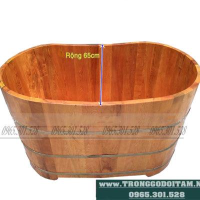 bán bồn tắm gỗ pơ mu dáng chuẩn