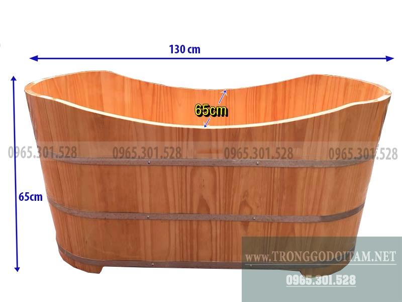 kích thước bồn tắm gỗ