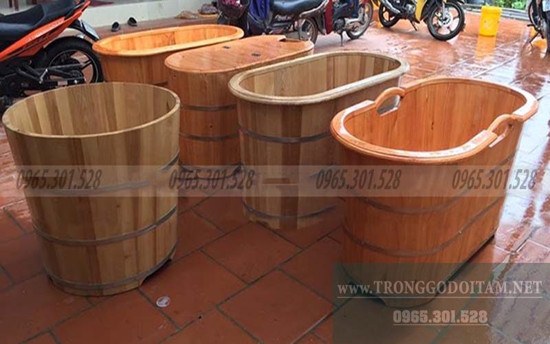 các mẫu bồn tắm gỗ đẹp