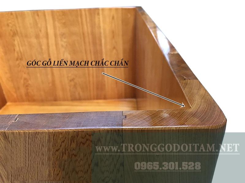 bán bồn tắm vuông gỗ pơmu