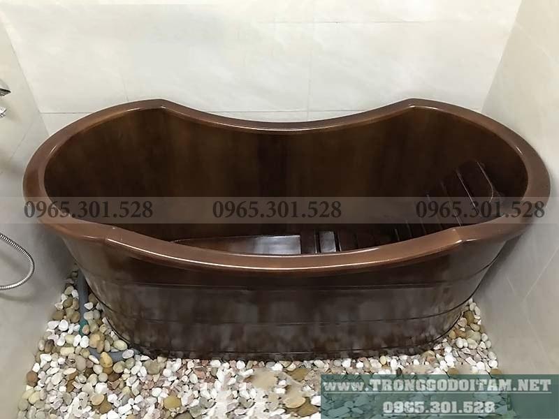 bán bồn tắm gỗ màu nâu