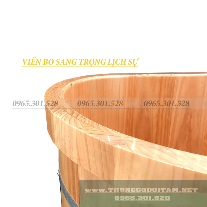 bồn tắm nằm gỗ thông
