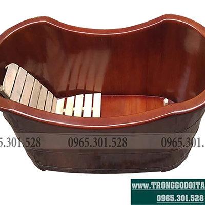 bồn tắm gỗ giả cổ gỗ pơ mu