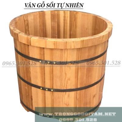 bồn tắm gỗ sồi tự nhiên