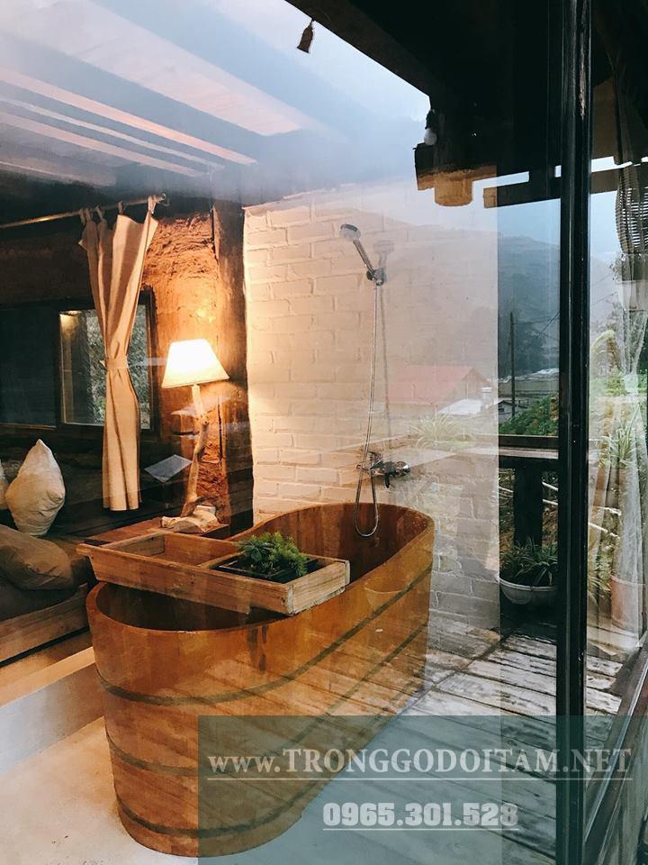 cung cấp bồn tắm gỗ cho spa đầy đủ phụ kiện