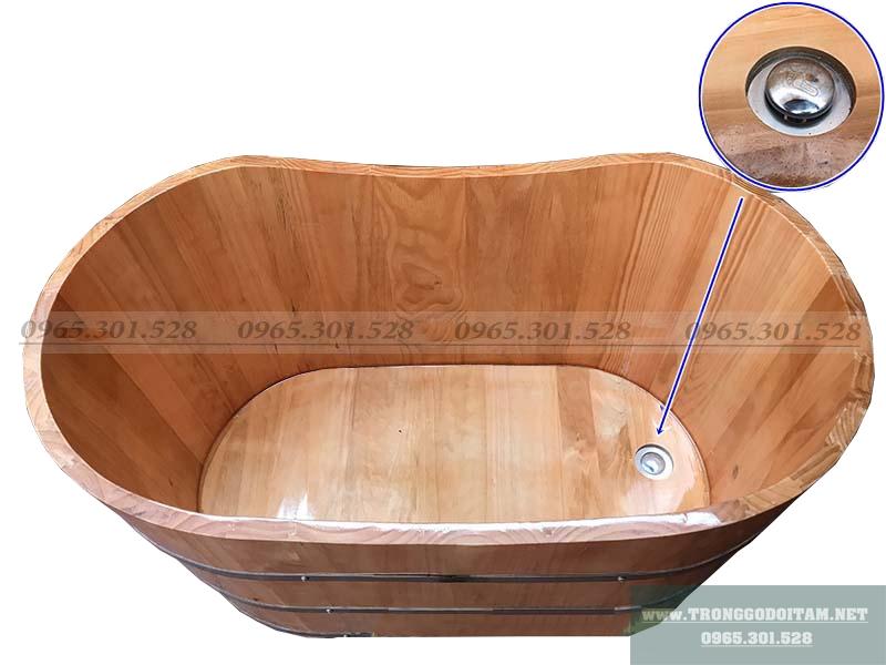 bồn tắm gỗ thanh lý ngâm thảo dược