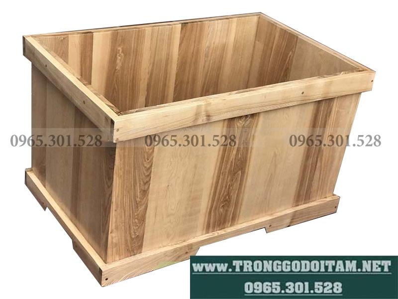 bồn tắm gỗ vuông đặt theo kích thước