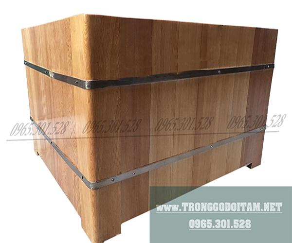 bán bồn tắm gỗ hình vuông tại hà nội