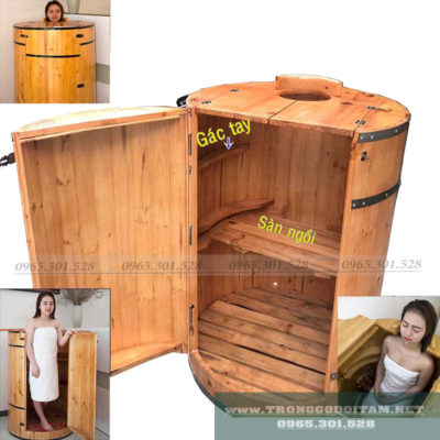 bồn tắm gỗ xông hơi tại nhà