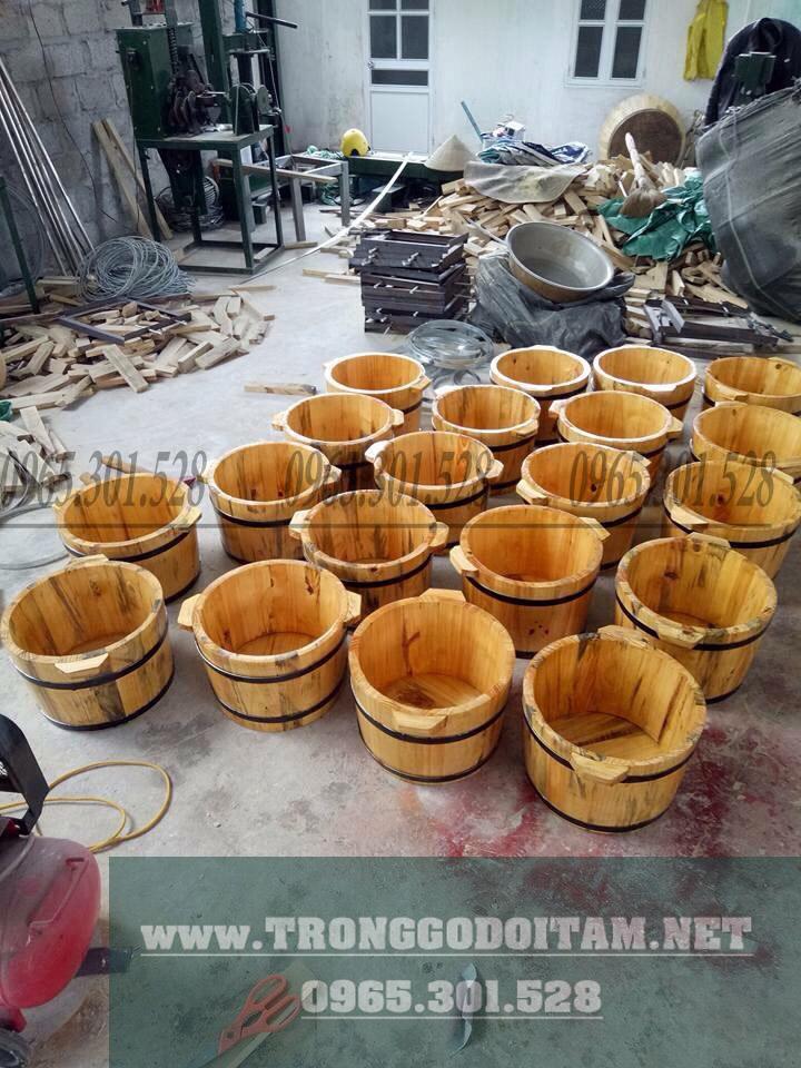 chậu gỗ ngâm chân giá rẻ
