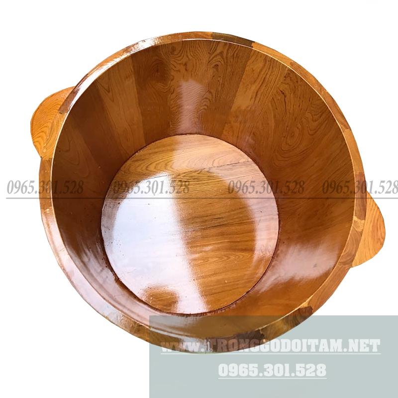 Bán chậu ngâm chân bằng gỗ Pơ Mu size lớn, phù hợp cho khách ngâm ngập chân