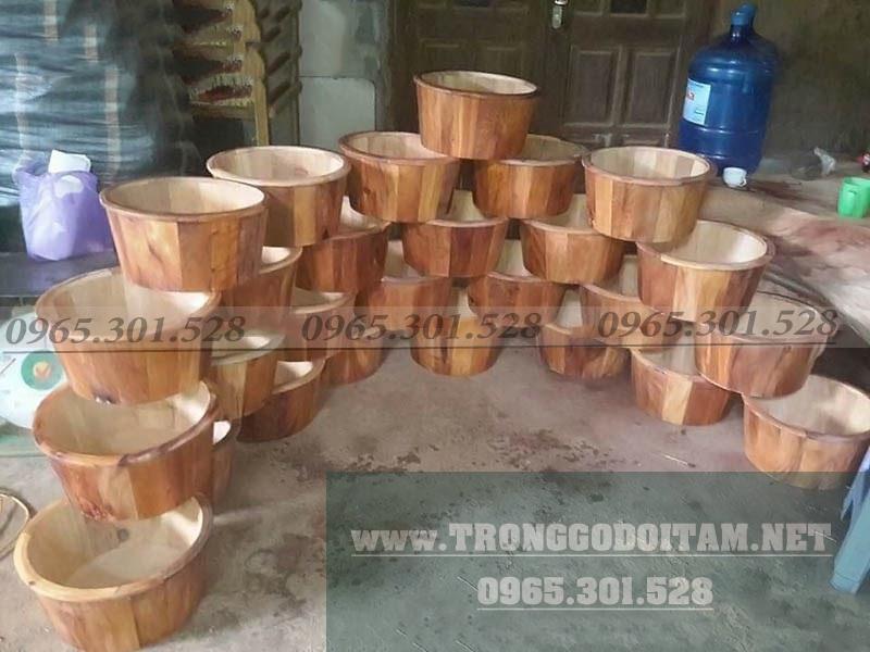 xưởng sản xuất chậu ngâm chân bằng gỗ ngọc am