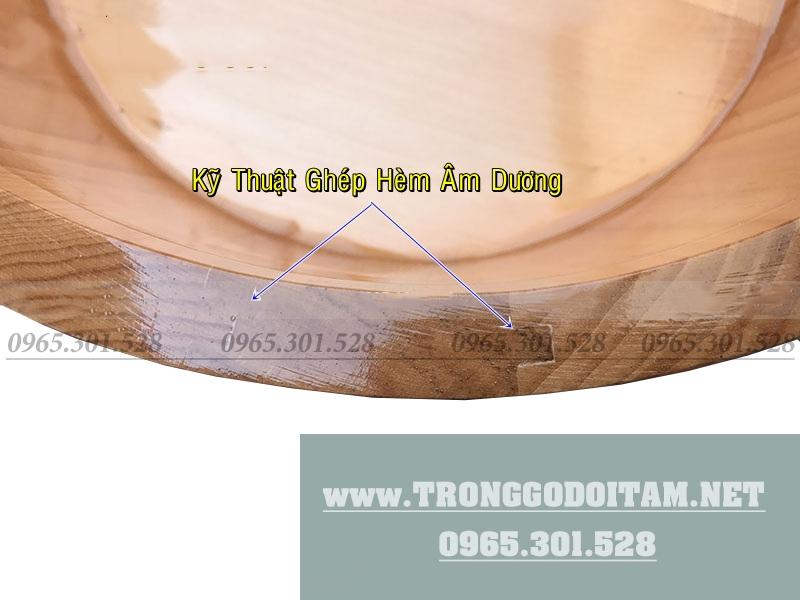 Bán chậu ngâm chân bằng gỗ Thông tại Hà Nội