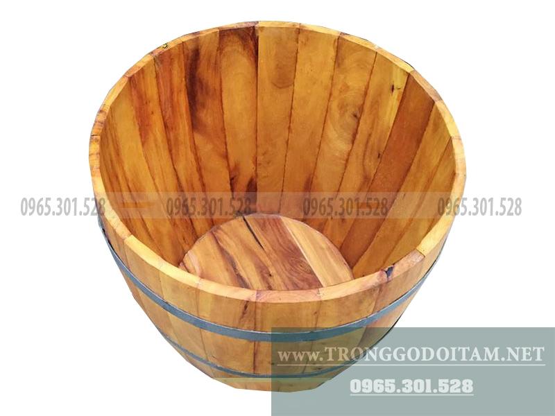 chậu tắm bằng gỗ cho trẻ em