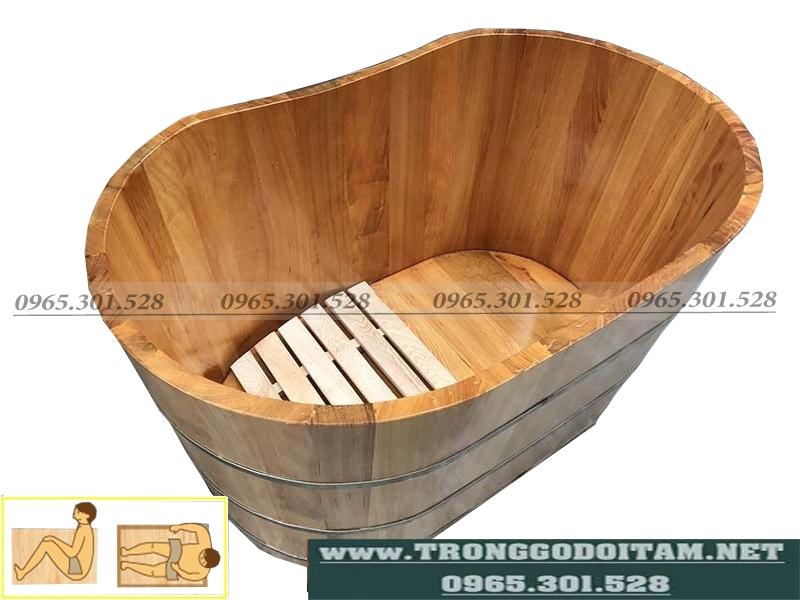 bán thùng tắm gỗ pơ mu dài 100cm giá rẻ