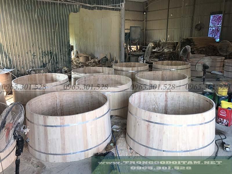 xưởng bồn tắm gỗ uy tín