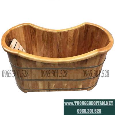 thùng tắm gỗ pơmu bo viền cao cấp