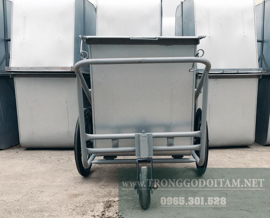 đại chỉ sản xuất và bán xe gom rác 500l tôn giá rẻ