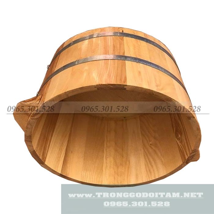 thùng ngâm chân bằng gỗ sồi siêu bền đẹp