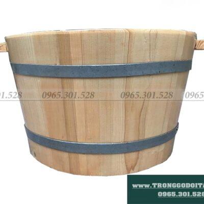 bán chậu gỗ ngâm chân gỗ pơ mu gỗ thông