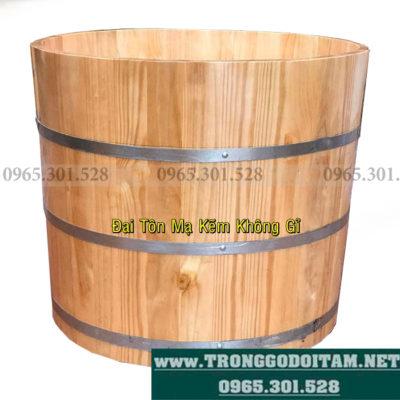 thùng tắm gỗ thông nhật ngâm thuốc