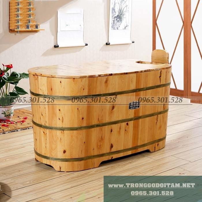 thùng tắm gỗ bách xanh xông hơi tại nhà