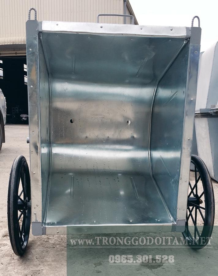 thùng xe thu gom rác 400l tôn