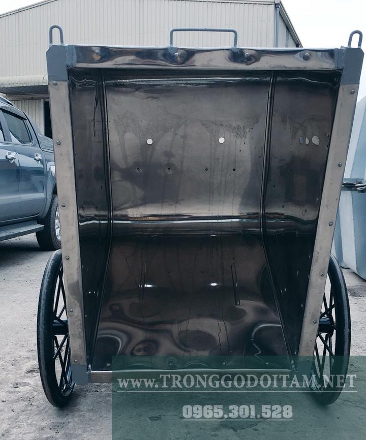 thùng xe gom rác 500l inox