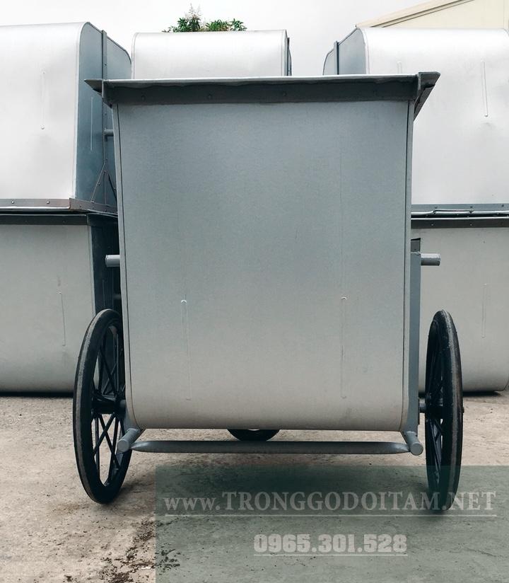 xe gom rác thùng tôn 500l tại hà nội