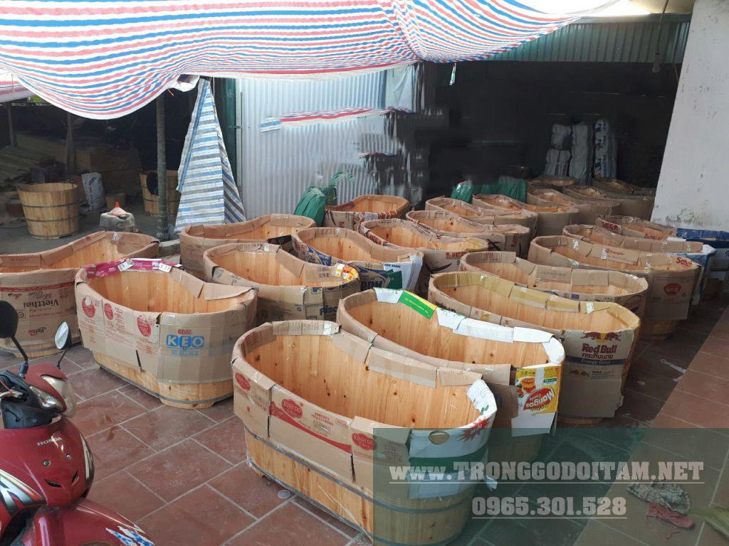 xưởng sản xuất bồn tắm gỗ pơ mu, gỗ thông