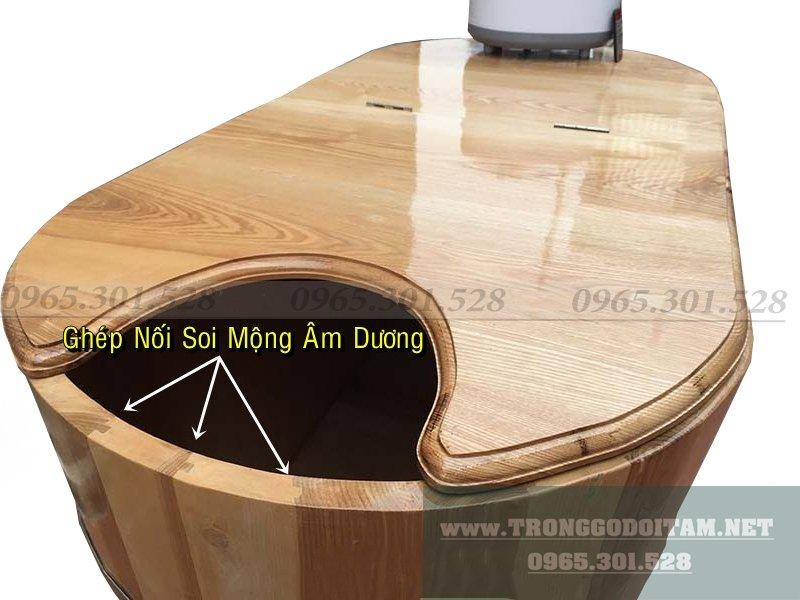 Thùng gỗ ngâm người, bồn tắm gỗ, thùng tắm bằng gỗ Sồi