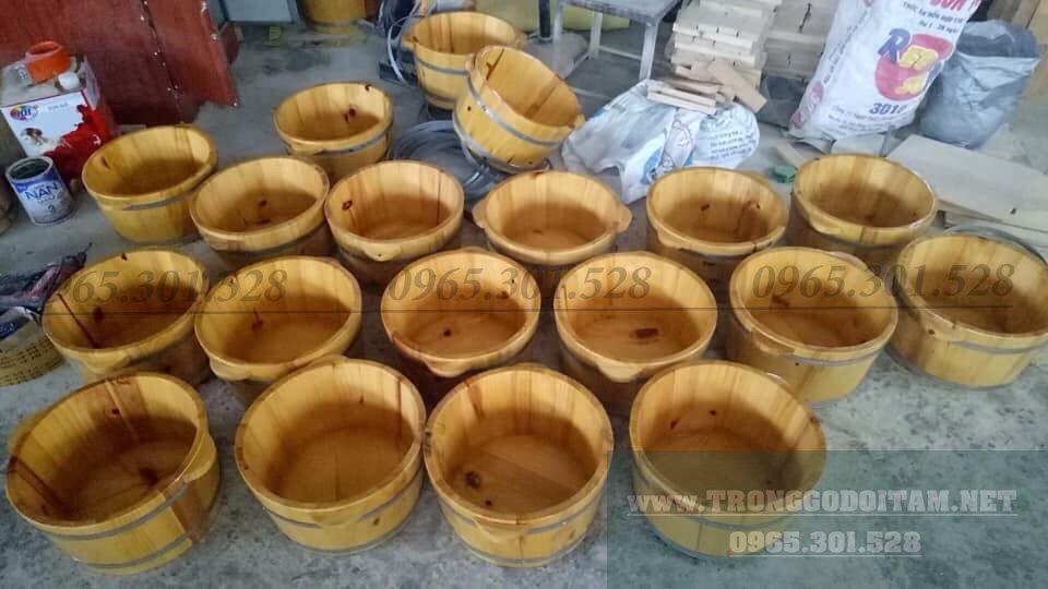 Xưởng sản xuất chậu gỗ ngâm chân, giá rẻ tận gốc