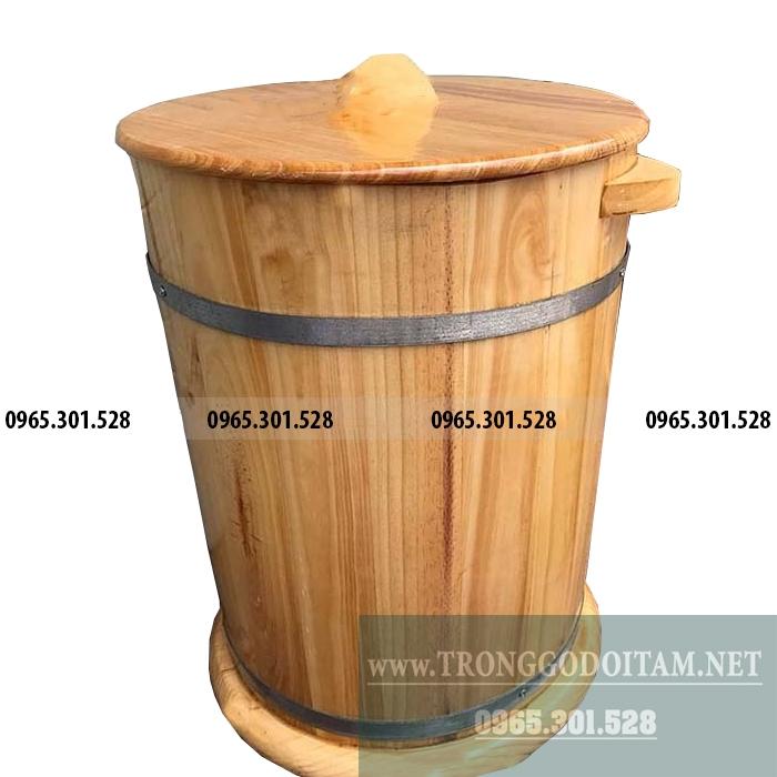 bán thùng đựng gạo bằng gỗ loại 30kg
