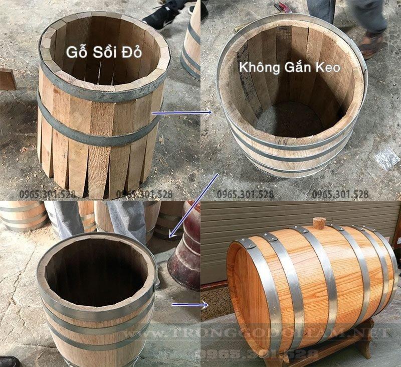 Quy cách làm thùng gỗ sồi
