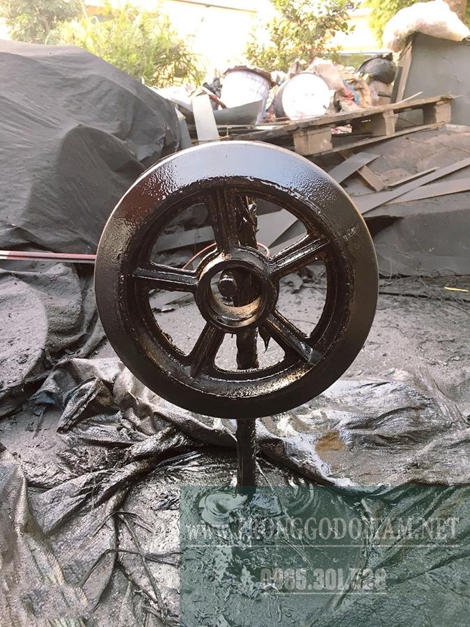 nhà máy sản xuất bánh xe gom rác đẩy tay thu rác thải