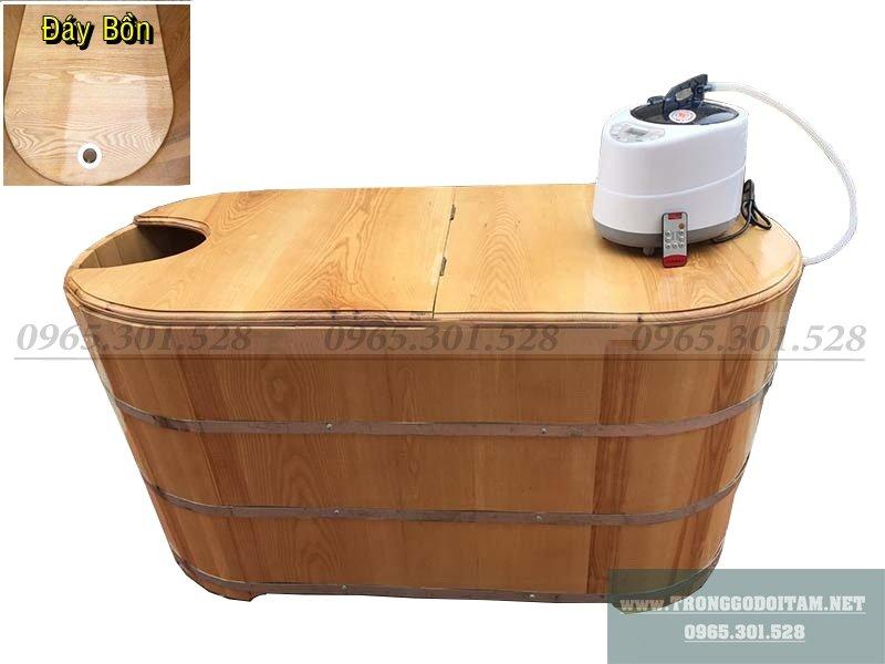 Bồn tắm gỗ xông hơi massage giá rẻ