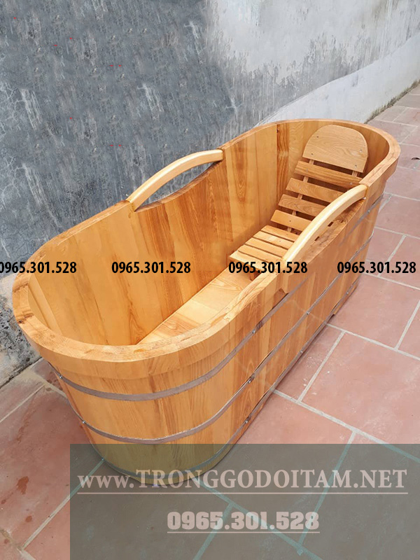 bồn tắm bằng gỗ sồi giá rẻ