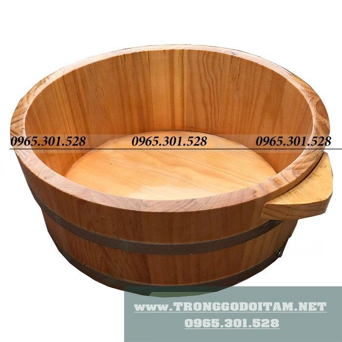 Chậu rửa mặt bằng gỗ độc đáo