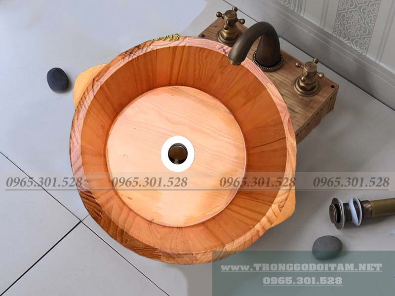 chậu gỗ rửa mặt cao cấp