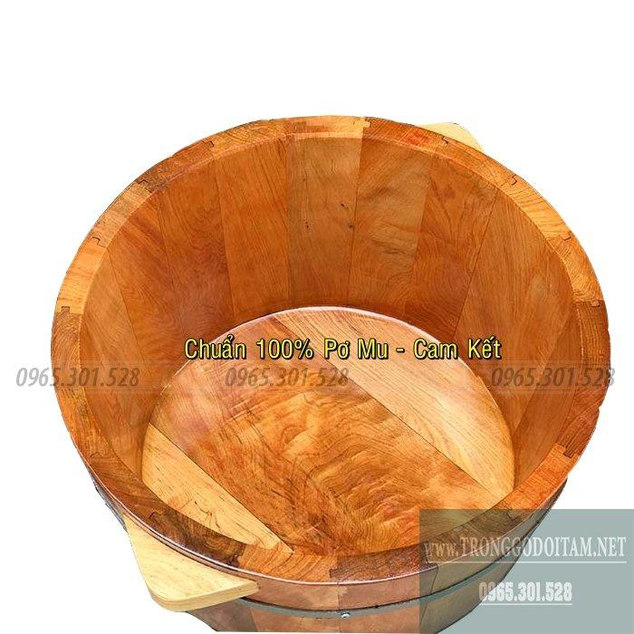 Bồn ngâm chân bằng gỗ Pơ Mu cao cấp, mẫu đẹp