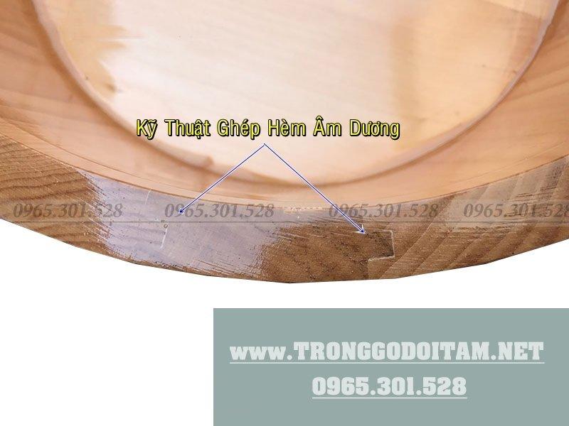 Chậu gỗ ghép nối kỹ thuật cao, không rò rỉ