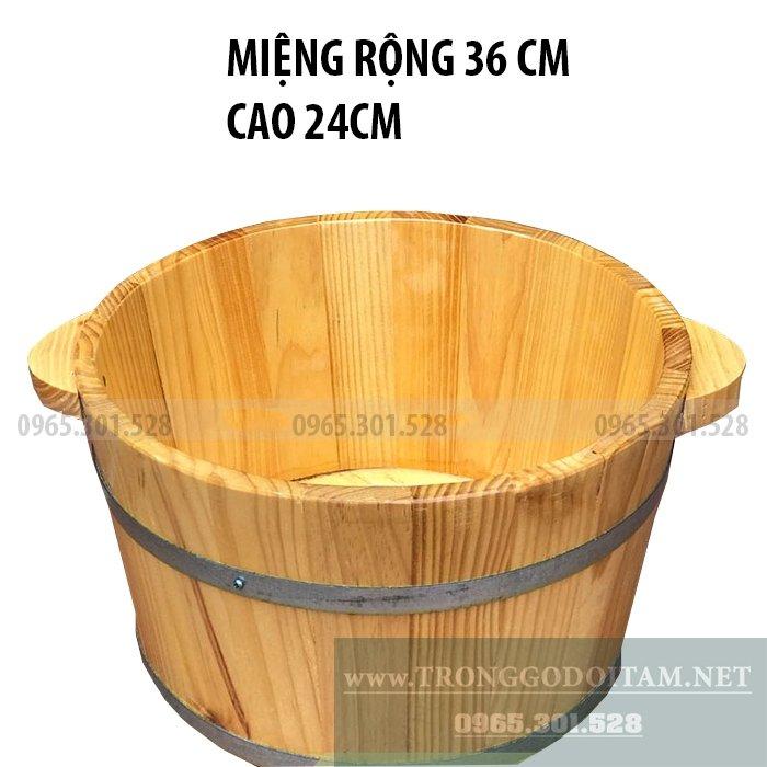 Chậu gỗ thẩm mỹ, bền đẹp và tốt cho sức khỏe