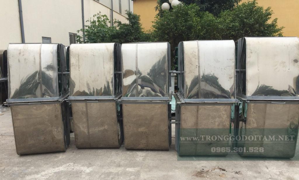 đại lý xe gom rác 500l inox